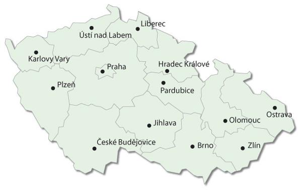 Mapa podlahářství ČR